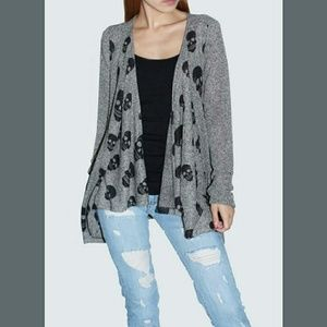 Sweaters - 💀SKULL GREY CARDIGAN💀